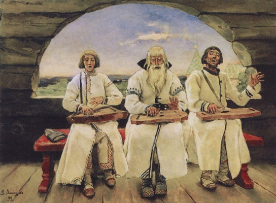 Viktor Mikhailovich Vasnetsov. The psaltery players