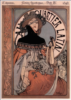 Alphonse Mucha. In the Latin quarter