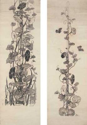 Wilhelm Kotarbinsky. Moth and convolvulus. Sketch