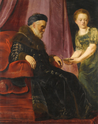 Франс Питерс де Греббер. Царь Давид и Ависага.