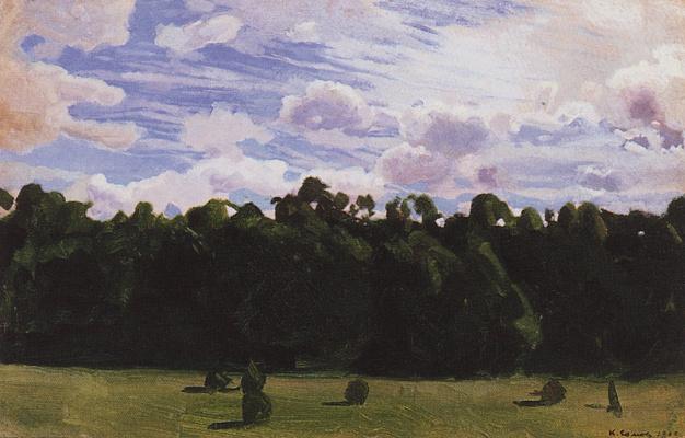 Constantin Somov. Forest