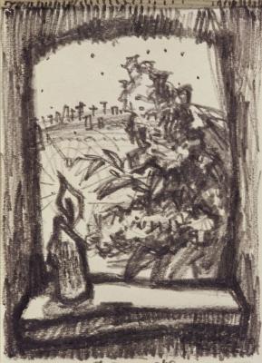 Оскар Яковлевич Рабин. Свеча на окне