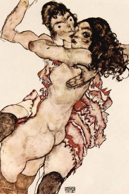 Egon Schiele. Two women in each other's arms (Friends)