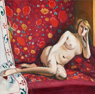Albert Marquet. Nude on a red background