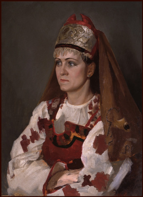 Sushienok64 @ mail.ru Mikhailovich Sushenok Igor. Portrait of a girl in a Russian costume