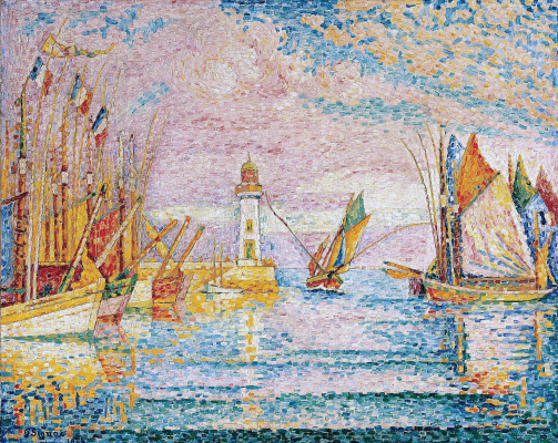 Paul Signac. Lighthouse at groix