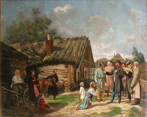 Василий Владимирович Пукирев. Сбор недоимок