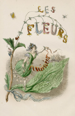 "Jean Inias Isidore (Gerard) Granville. A series of ""Animate Flowers"". Frontispiece"