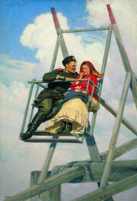 Nikolay Aleksandrovich Yaroshenko. On the swing. 1888