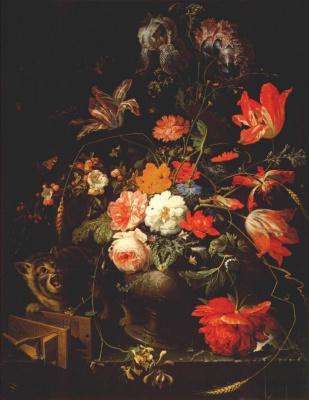 Авраам Миньон. Натюрморт с цветами