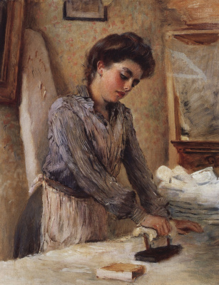 Konstantin Makovsky. The old Ironing woman