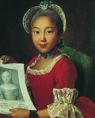 Иван Петрович Аргунов. Портрет калмычки Аннушки. 1767
