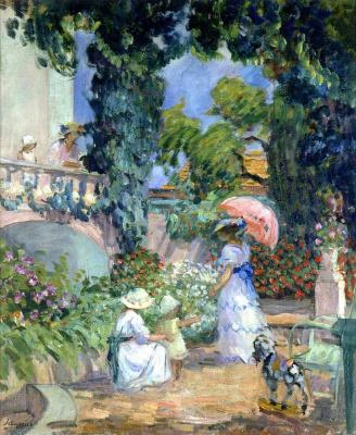 Henri Lebasque. Garden terrace