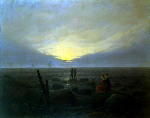 Caspar David Friedrich. Moonrise on the sea