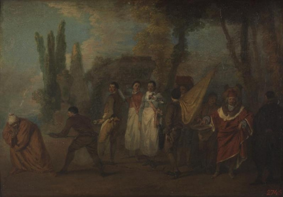 Antoine Watteau. Satire on physicians