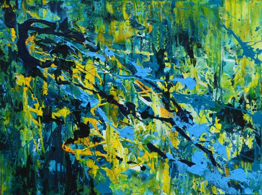 "Tanya Vasilenko. ""Tsvetovospriatia"", acrylic on canvas. Color perception 60 x 80 Acrylic on Canvas. 2016"