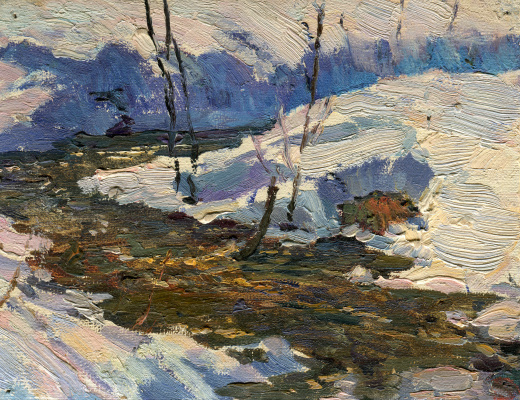 """Vasily Fadeevich Demin. Etude """"The First Thaw"""""""