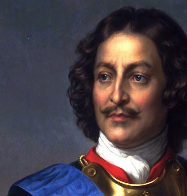 Paul Delaroche. Peter The Great, Russia. Fragment
