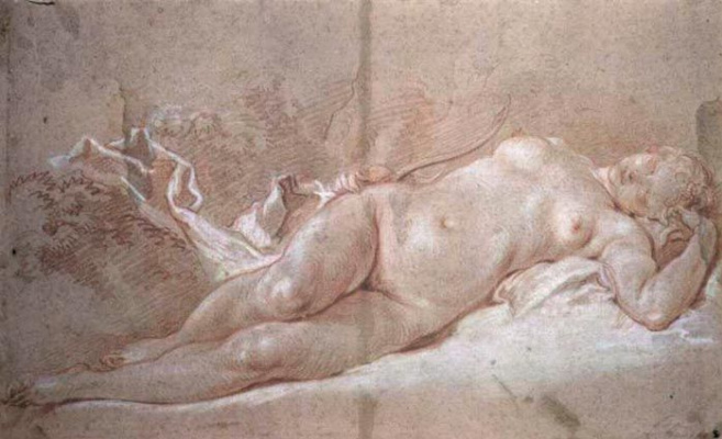 Francois Boucher. Sleeping Diana