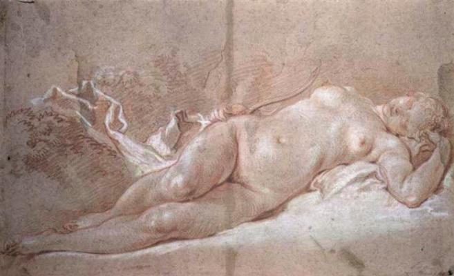 Francois Boucher. Sleeping Diana