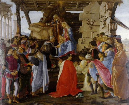 Sandro Botticelli. The adoration of the Magi