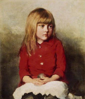 Джон Эверетт Милле. Портрет девочки (Возможно, Мэри Милле, дочь художника)