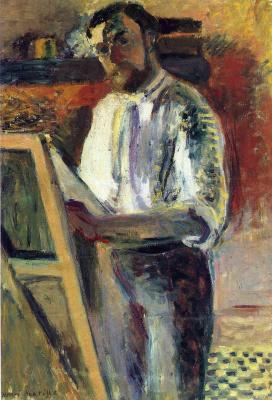 Self-portrait in a shirt