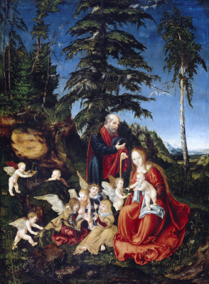 Lucas Cranach the Elder. Rest on the flight into Egypt
