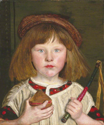 Ford Madox Brown. English boy (Portrait of Oliver brown)