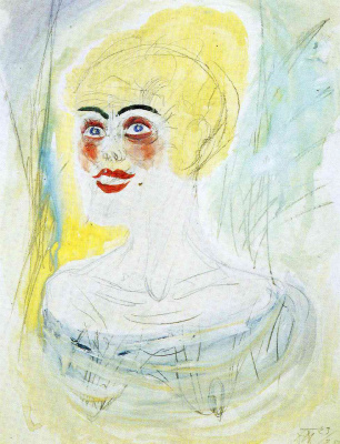 Otto Dix. The girl with blond hair