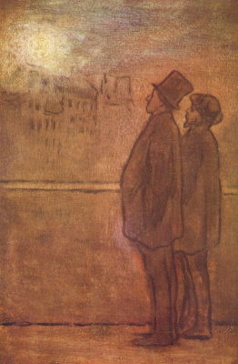 Honore Daumier. Night dreamers