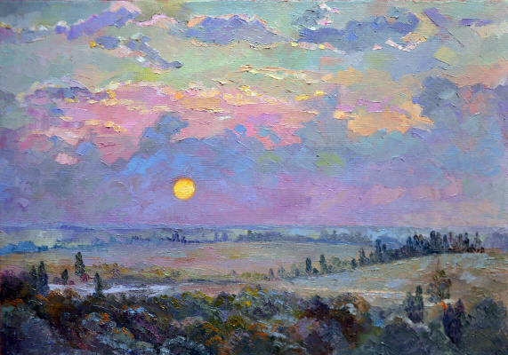 Elena Anatolyevna Berezina. Sunrise at the Ust-Alma