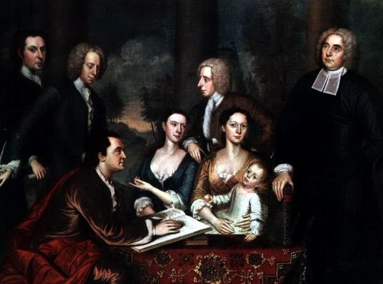 Джон Смиберт. Епископ Беркли и его семья