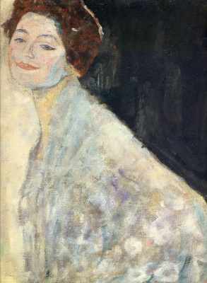 Gustav Klimt. The portrait of a lady in white