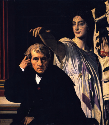 The composer Cherubini with the Muse of lyric poetry
