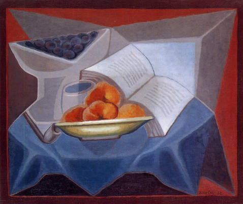 Juan Gris. Fruit and book