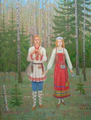Eugene Alexandrovich Kazantsev. Spring melody cowgirl.