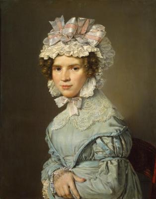 Кристиан Альбрехт Иенсен. Портрет дамы в голубом платье