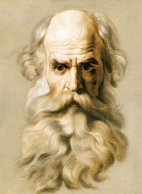 Karl Pavlovich Bryullov. Head of an Apostle. Sketch for the painting St. Isaac's Cathedral in St. Petersburg.