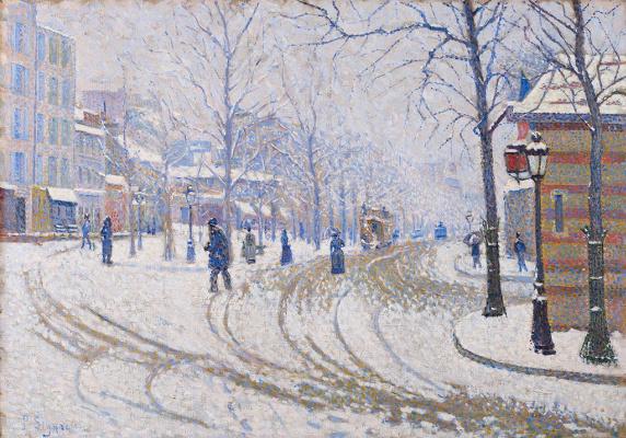Paul Signac. The Boulevard De Clichy