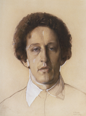 Constantin Somov. Portrait Of Alexander Alexandrovich Blok
