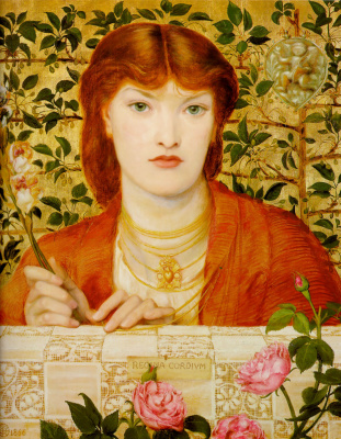 Dante Gabriel Rossetti. The Queen of hearts. Portrait Of Alexa Wilding
