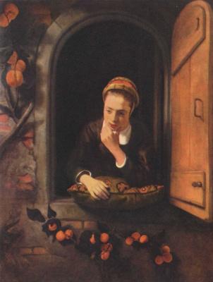 Николас Мас. Девушка у окна