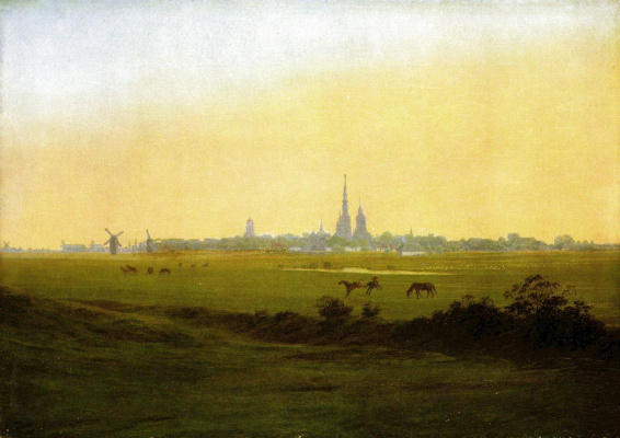 Caspar David Friedrich. Meadows near Greifswald