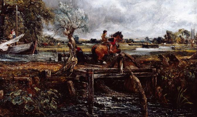 John Constable. A galloping horse. Fragment