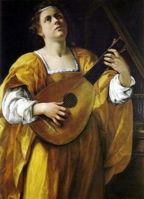 Artemisia Gentileschi. Holy Cecilia of Rome