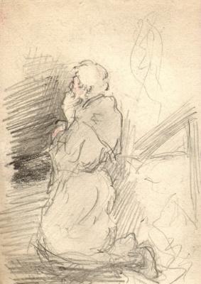 Михаил Федорович Шемякин. Молящийся монах
