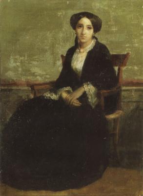 William-Adolphe Bouguereau. A Portrait Of Genevieve