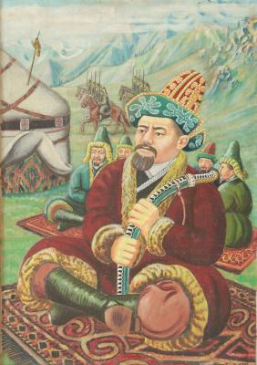 Abylkhan Kasteevich Kasteev. Portrait of Kenesary
