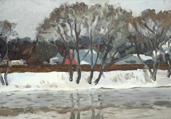 Konstantin Ekonomov. In the winter on Pakhra
